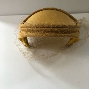 VTG 40 50 60's Netted Hat textured canvas
